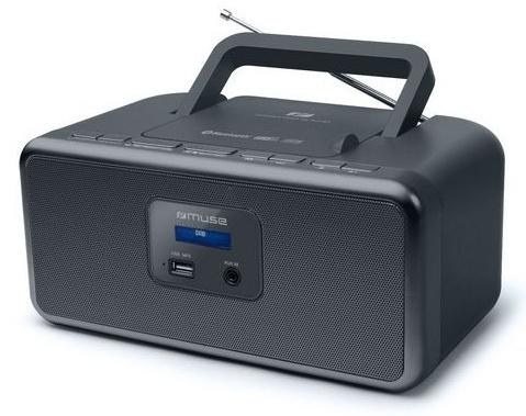 Muse M-32 DB draagbare Radio CD speler met DAB+, USB en Bluetooth, zwart