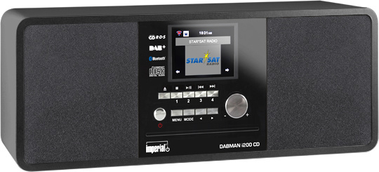 Imperial DABMAN i200 CD stereo hybride internetradio met CD, USB, Bluetooth en DAB+ digital radio, zwart