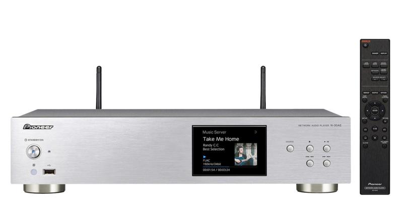 Pioneer N-30AE hifi stereo netwerk wifi internet audio speler, zilver