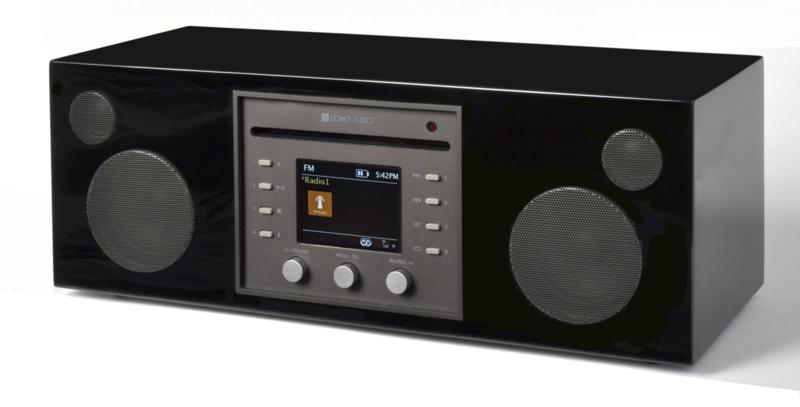 Como Audio Musica hifi stereo alles-in-1 radio met wifi internet, DAB+, CD, Spotify en Multi room, Piano Black