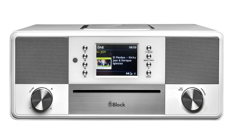 Block SR-50 Smartradio all-in-one stereo 2.1 radio met CD, internetradio, DAB+, Spotify, USB en Bluetooth, wit