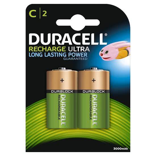 Type C oplaadbare batterijen, Duracell, set van 2