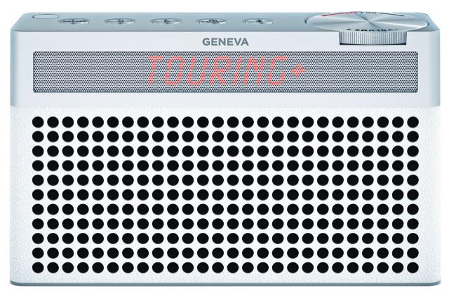Geneva Touring / S+ oplaadbare portable hi-fi DAB+ en FM radio met Bluetooth, wit