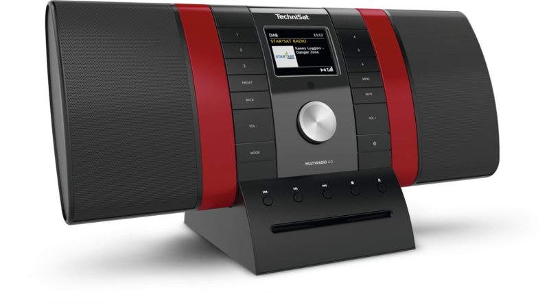 TechniSat MultyRadio 4.0 stereo radio met wifi internet radio, DAB+, CD, Bluetooth en USB, rood