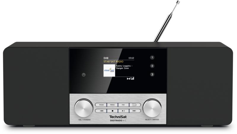 TechniSat DigitRadio 4C stereo tafelradio met DAB+ digital radio, FM en Bluetooth