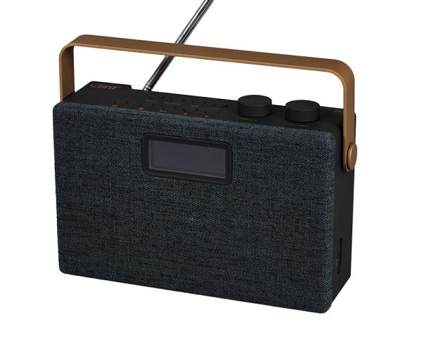 Clint Digital F7 stereo draagbare radio met DAB+, FM en Bluetooth ontvangst, zwart