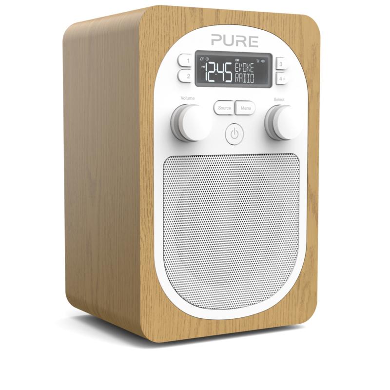 Pure Evoke H2 compacte DAB+ en FM keuken radio, eiken