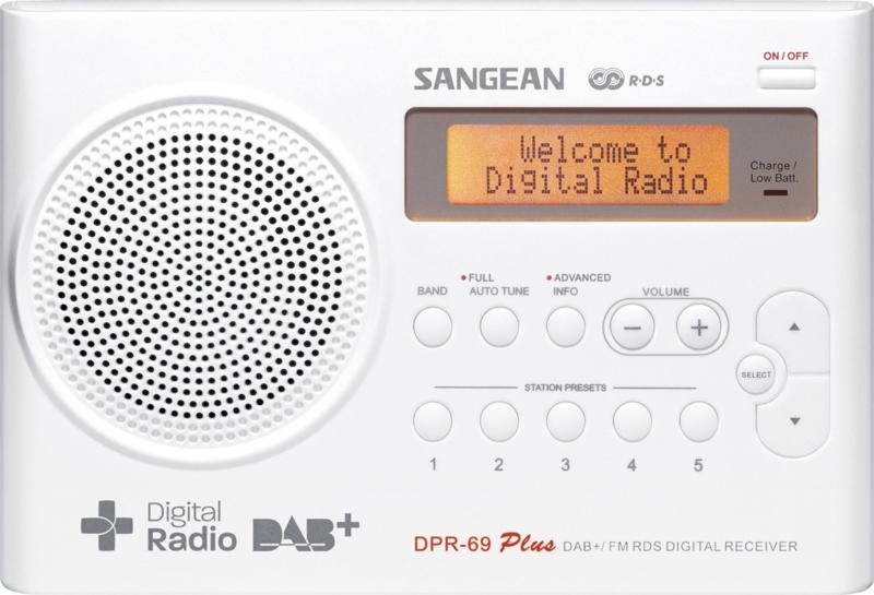 Sangean Traveller 690 (DPR-69+) DAB+ en FM radio met presets, wit