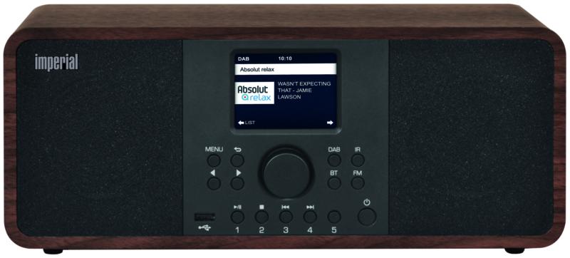Imperial DABMAN i205 stereo hybride internetradio met DAB+ en FM en Bluetooth 5.0, walnoot