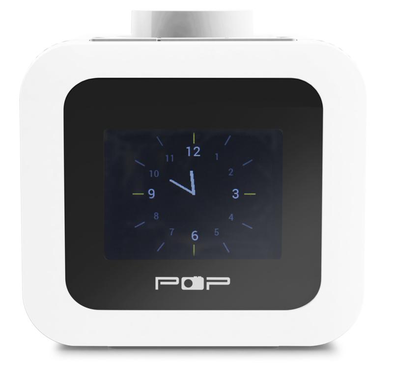 POP RADIO POPup2 DAB+/FM wekkerradio met 2 instelbare alarmen, dimbaar scherm én eierwekker-functie, wit