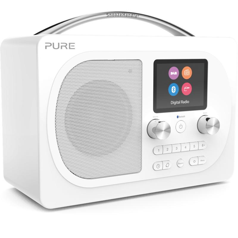 Pure Evoke H4 Prestige Edition draagbare DAB+, FM en Bluetooth radio, wit