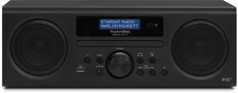 TechniSat DigitRadio 350 CD radio met DAB+, FM, CD en USB, zwart