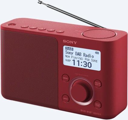 Sony  XDR-S61D Portable Digitale radio DAB+ FM, rood