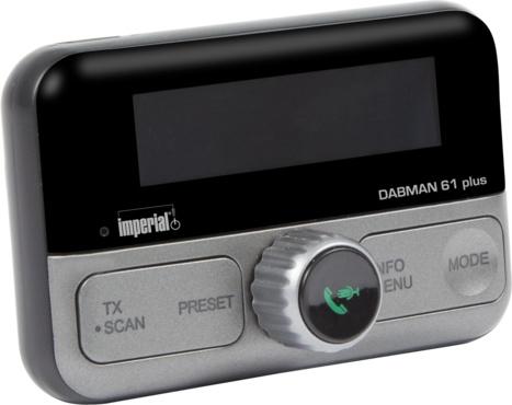 Imperial DABMAN 61 plus DAB+ adapter voor in de auto