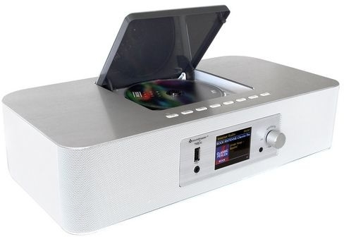 Soundmaster ICD2020 WE Internet radio met DAB+, FM, Bluetooth, CD- en netwerkspeler, wit
