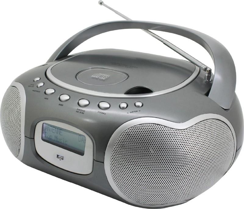 Soundmaster SCD4200 DAB+ en FM stereo boombox radio met CD en USB speler, titanium