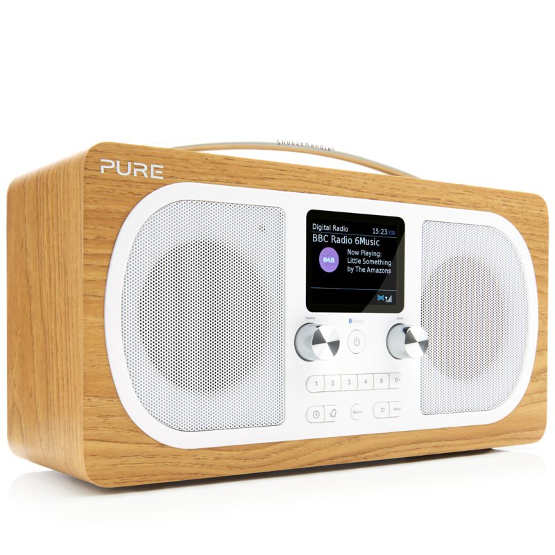 Pure Evoke H6 draagbare DAB+, FM en Bluetooth stereo radio, eiken