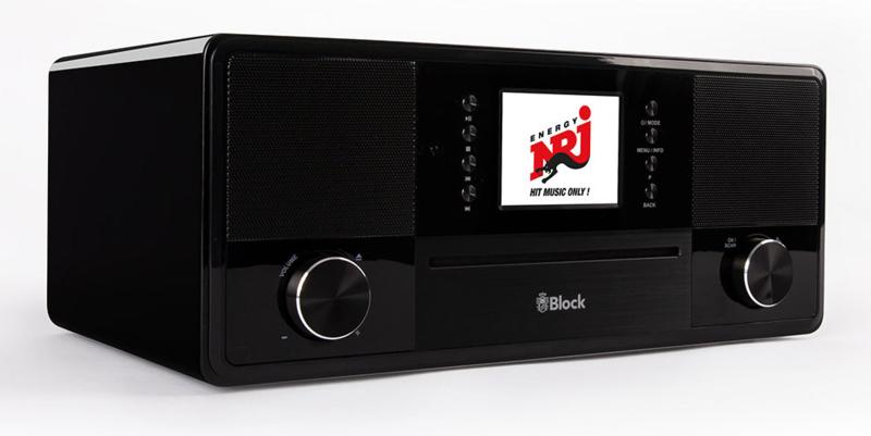 Block SR-50 Smartradio all-in-one stereo 2.1 radio met CD, internetradio, DAB+, Spotify, USB en Bluetooth, hoogglans zwart