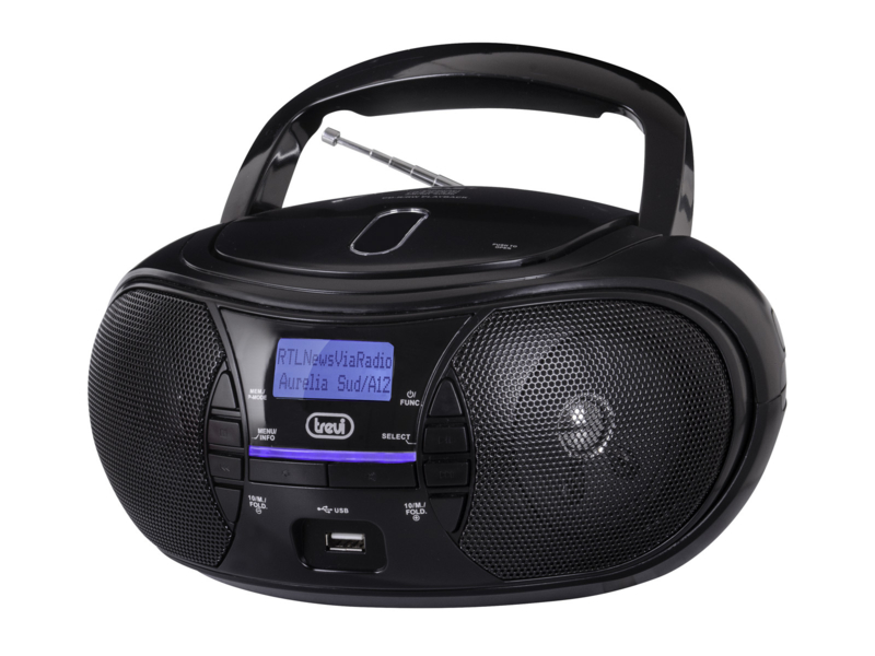 Trevi CMP 581 draagbare boombox radio met DAB+, FM, USB en CD speler