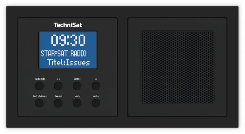 Technisat DigitRadio UP 1 DAB+, FM en Bluetooth inbouwradio, zwart
