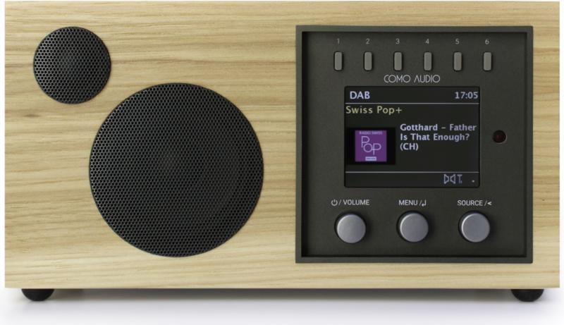 Como Audio Solo radio met wifi internet, DAB+, Spotify en Multi room, Hickory