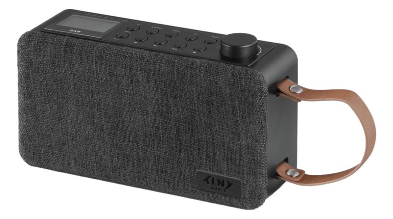 Tiny Audio Joy retro portable stereo DAB+ en FM radio met Bluetooth, zwart