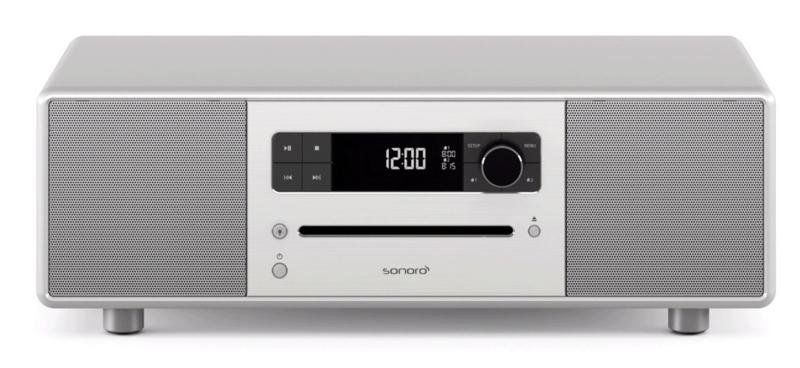 sonoro STEREO 2 SO-320 2.1 stereo muzieksysteem met DAB+ en FM, CD speler, USB en Bluetooth, zilver