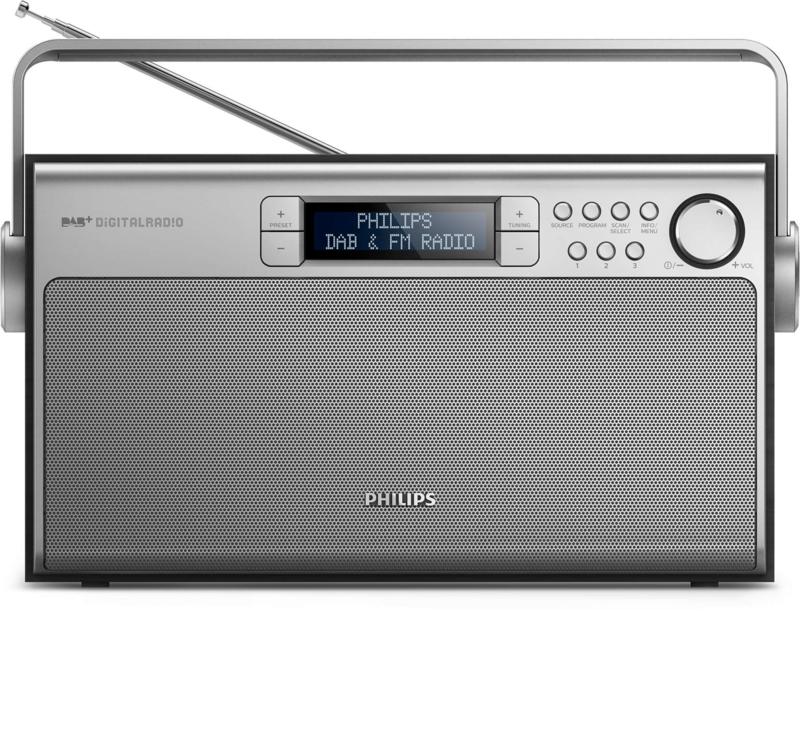 Philips AE5220B /12  draagbare stereo DAB+ en FM radio