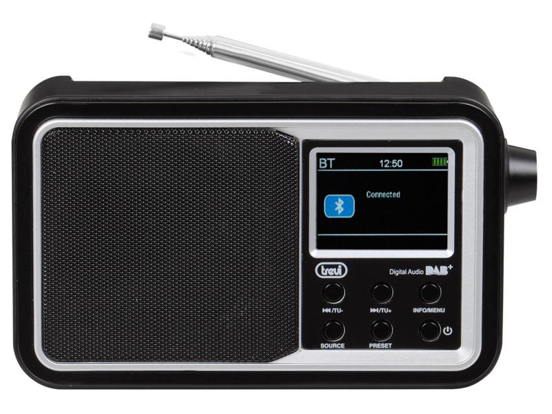 Trevi DAB 7F96 R draagbare radio met DAB+, FM en streaming via Bluetooth