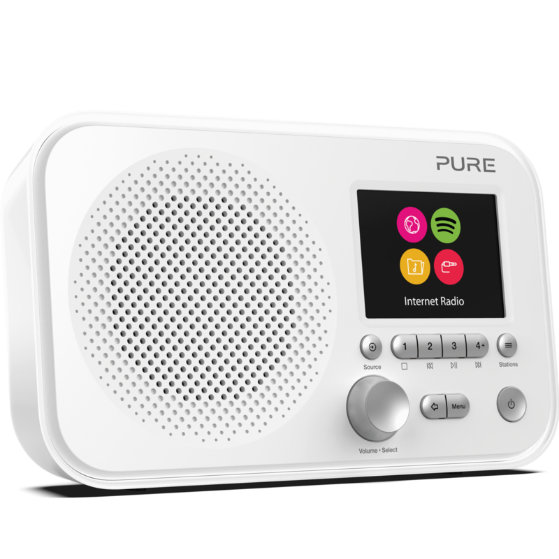 Pure Elan IR3 draagbare internet radio met Spotify Connect, wit