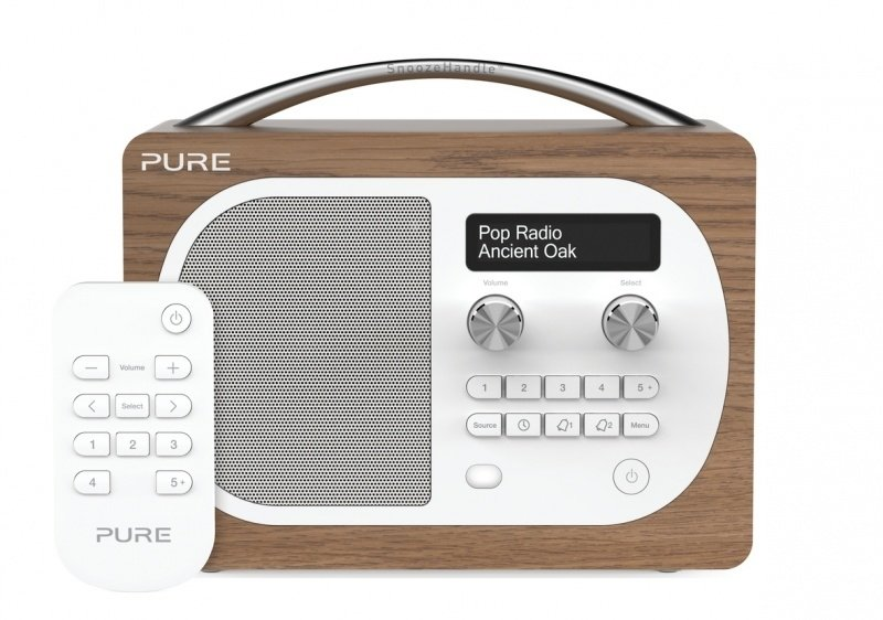 Pure Evoke D4 portable digitale DAB+ en FM radio in eiken fineer