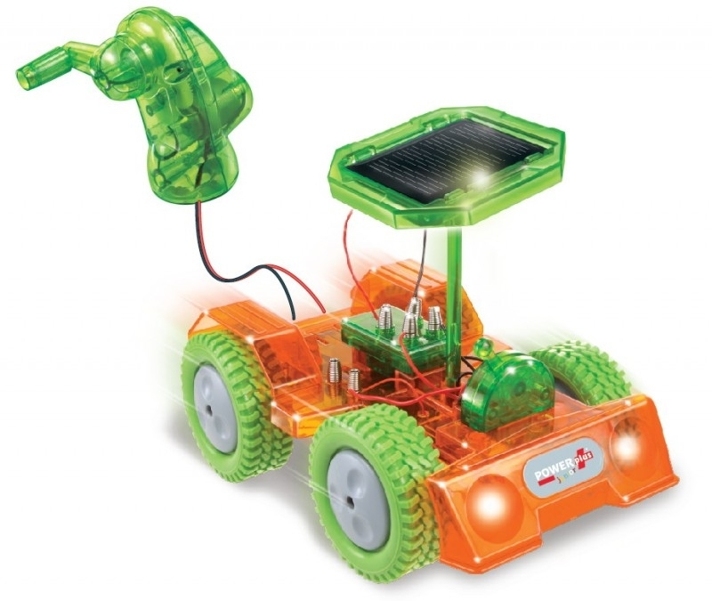 POWERplus Grasshopper solar en dynamo toy car