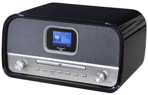 Soundmaster DAB970SW stereo retro DAB+ en FM radio met CD, Bluetooth en USB, zwart