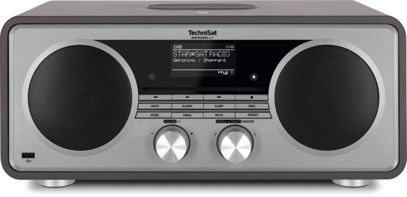 TechniSat DigitRadio 601 hifi audio radio met DAB+ en FM ontvangst, internet radio, CD-speler en Bluetooth streaming, grijs