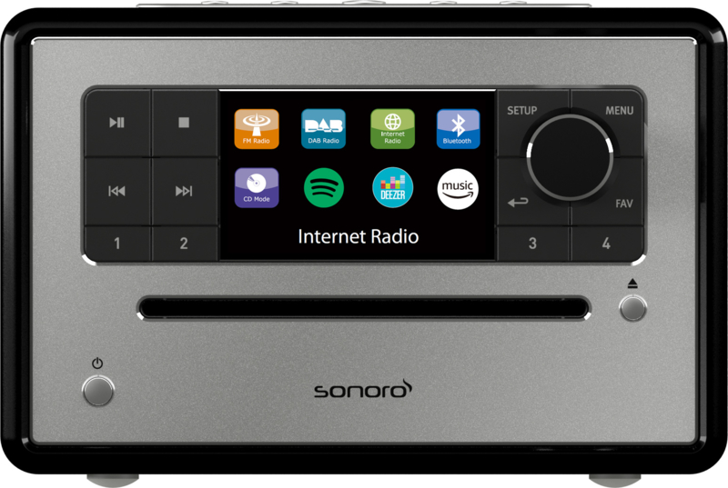 Sonoro Elite SO-910 internetradio met DAB+, FM, CD, Spotify, Bluetooth en USB, zwart