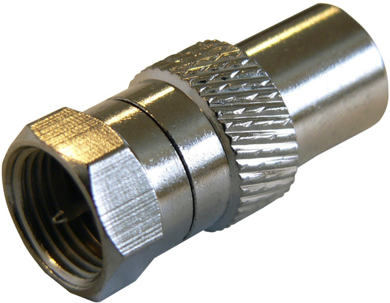 F connector male naar Coax connector male