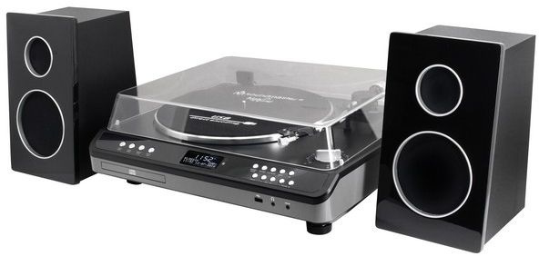 Soundmaster Elite Line PL979SW muziek center met DAB+ radio, FM, platenspeler, CD en USB