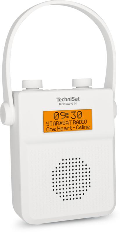 Technisat Digitradio 30 Dab En Fm Badkamer Radio Met Bluetooth Ontvangst En Oplaadbare Accu Wit Technisat De Radiowinkel
