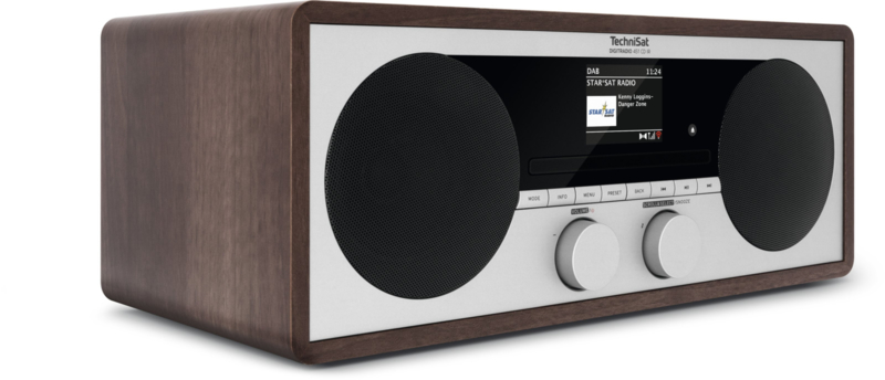 TechniSat DigitRadio 451 CD IR stereo houten wifi internetradio met CD, DAB+ en FM, hout