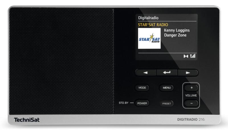 TechniSat DigitRadio 216 portable DAB+ en FM radio, zwart-zilver