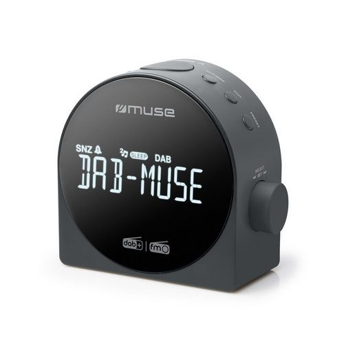 Muse M-185 CDB DAB+ en FM wekker klokradio met presets