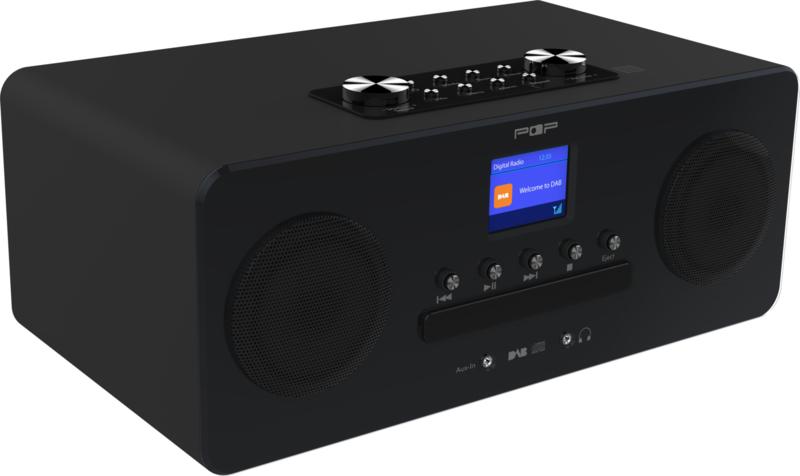 POP RADIO POPCD Stereo systeem met DAB+ en FM radio, CD en Bluetooth