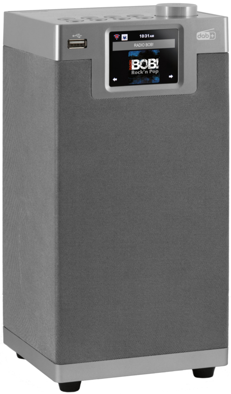 Imperial DABMAN i610 stereo 2.2 hybride internetradio met DAB+ en FM, USB en Bluetooth, zilvergrijs