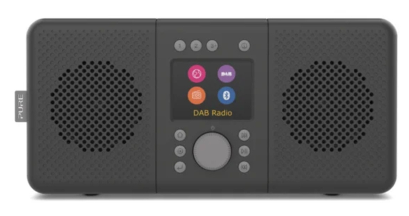 Pure Elan Connect+ stereo DAB+, FM en WIFI internetradio met Bluetooth, Charcoal