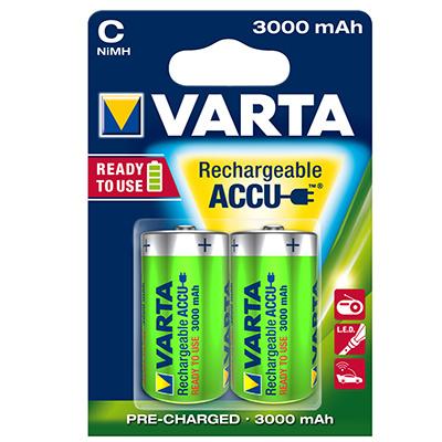 Type C oplaadbare batterijen, VARTA, set van 2