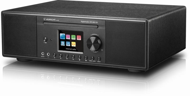 Albrecht DR 890 CD stereo internet en DAB+ FM radio met CD, USB, zwart