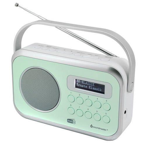 Soundmaster DAB270 GR draagbare radio met DAB+, FM en alarm, mintgroen