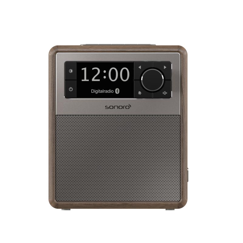 Sonoro EASY SO-120  V2 draagbare DAB+ / FM radio met Bluetooth ontvangst, walnoot