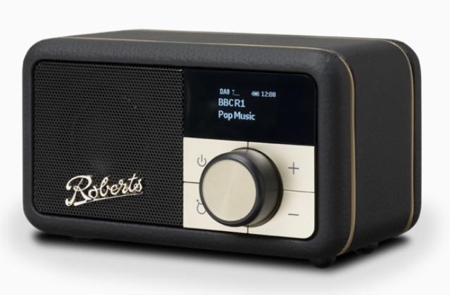 Roberts Revival Petite mini DAB+ en FM radio met Bluetooth ontvangst, zwart