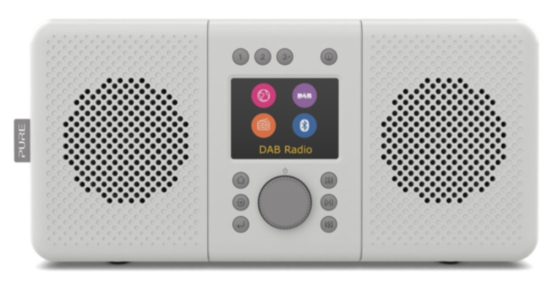 Pure Elan Connect+ stereo DAB+, FM en WIFI internetradio met Bluetooth, Stone Grey